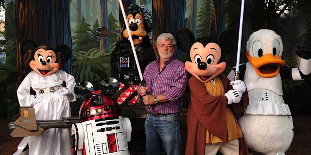George Lucas con cara de pocos amigos para anunciar la venta de Star Wars a Disney