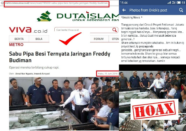 berita hoax ahok reklamasi jakarta