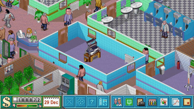 Screenshot from Theme Hospital