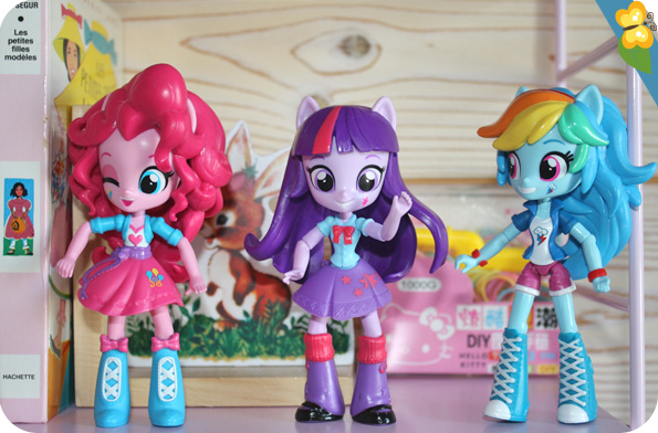 Poupées Equestria Girls Minis : Pinkie Pie, Twilight Sparkle, Rainbow Dash