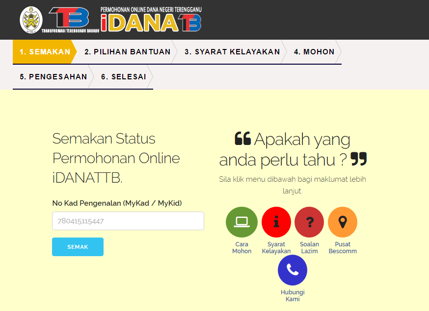 Permohonan Bantuan Aidilfitri Terengganu 2016 Akif Imtiyaz