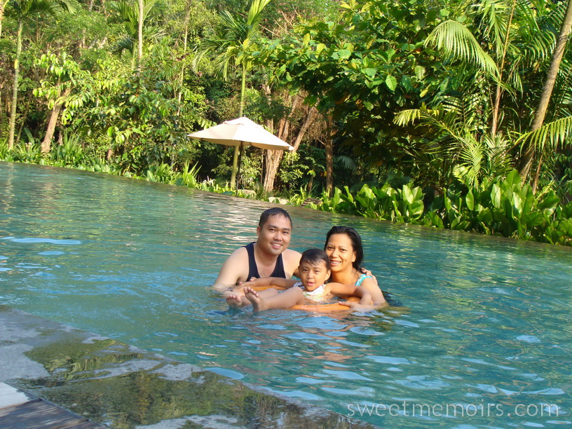 Cherry berry family staycation at siloso beach resort - Siloso beach resort swimming pool ...