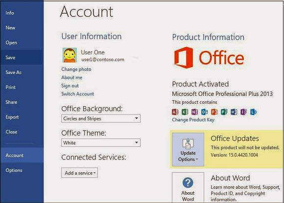 How to Turn Off and Update Features Microsoft Office 2013 - Computer