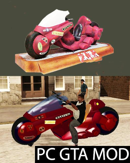 Free Download Kaneda's Bike (Akira)  Mod for GTA San Andreas