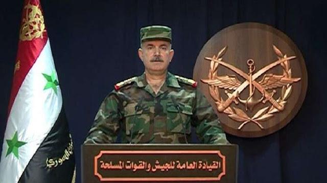 """الجيش السوري يعلن التصدي بـ""""كفاءة عالية"""" لصواريخ العدوان الثلاثي"""