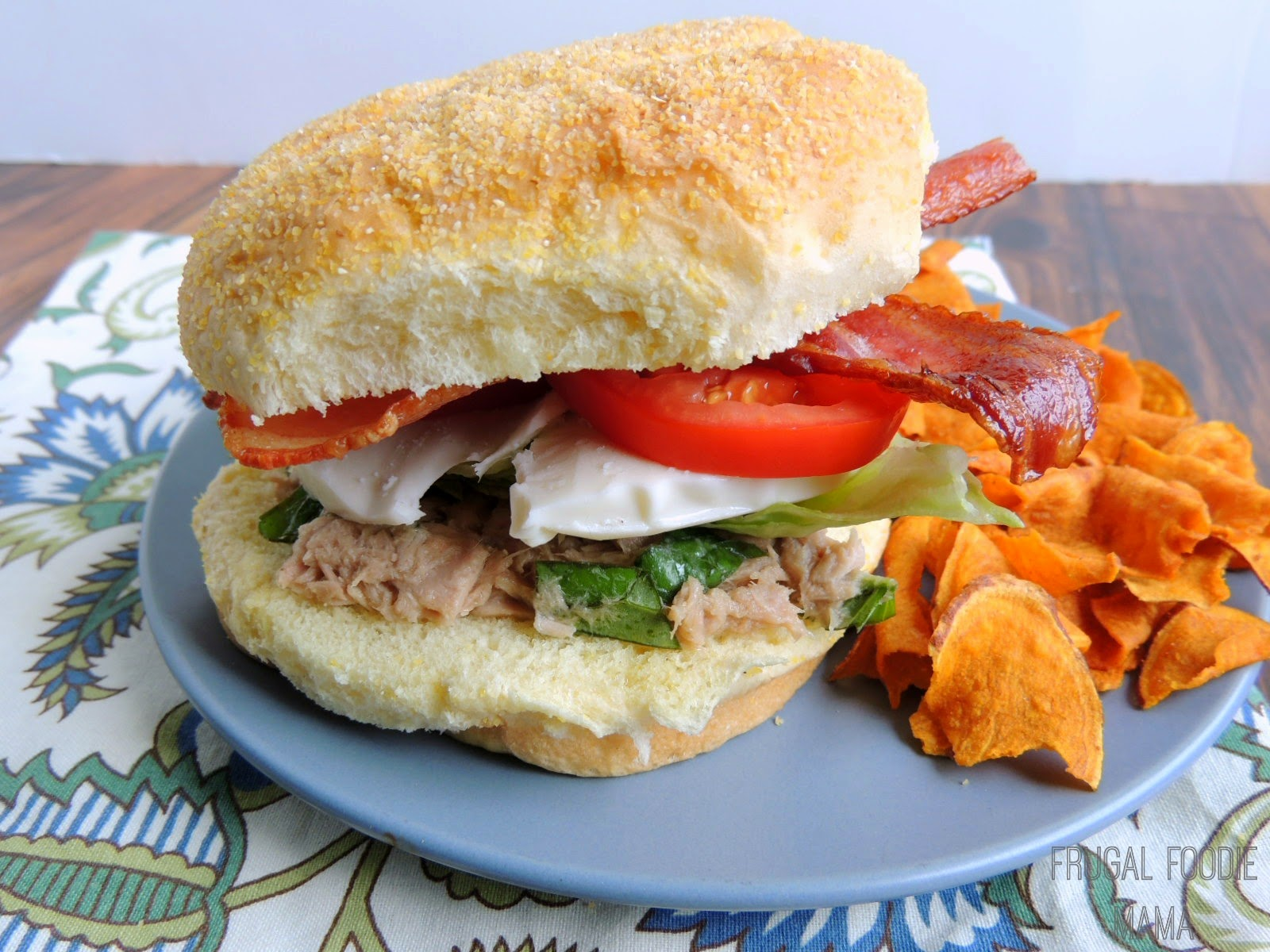 Caprese Tuna BLT from thefrugalfoodiemama.com #bacon #sandwich