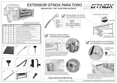Manual de Instalação do Extensor de Caçamba da Gtnox para Fiat Toro