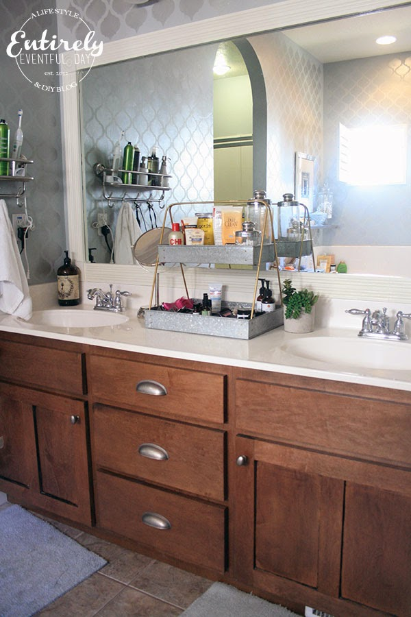 Creative Bathroom Counter Organizing Idea ~ Entirely