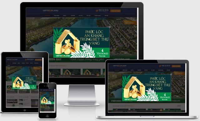 Templates blogspot bất động sản thích hợp làm web tổng - Ảnh 1