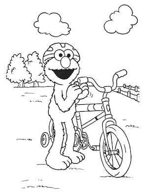 Gambar Mewarnai Elmo - 3
