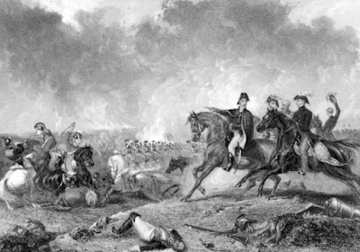 Decisive charge at Waterloo by A Cooper engraved by P Lightfoot  from The Life of Field-Marshal His Grace the Duke of Wellington  by WH Maxwell (1852)