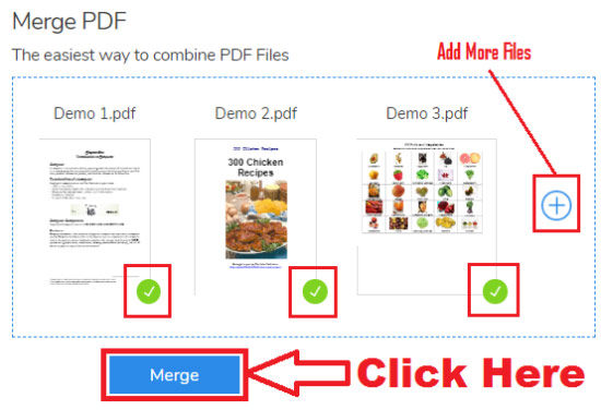 how to merge pdf files online free