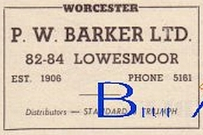 P.W.Baker Ltd of Worcester advert in Autocar 18 Oct 1957
