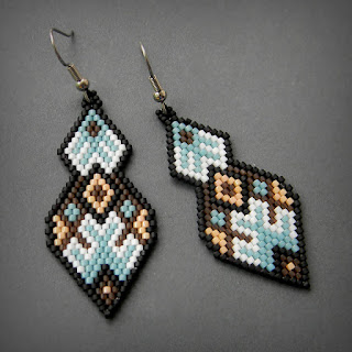 beaded earrings beadwork beadweaving beads beading jewelry seed bead earrings