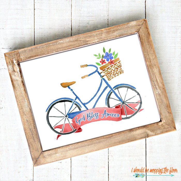 White Bicycle Printable