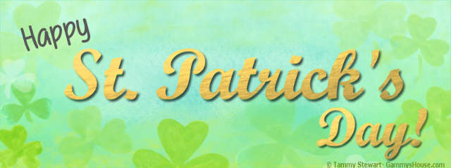 teal and green happy st patricks day graphic image