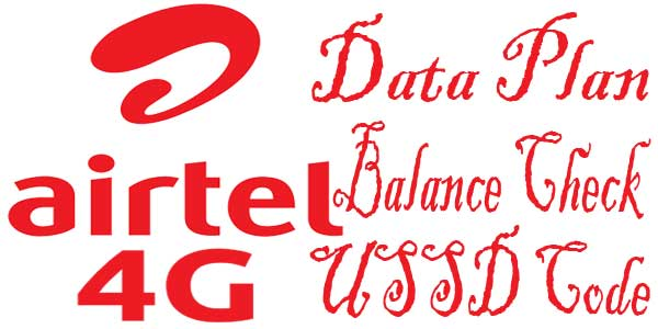 Check Airtel Data Plan 2G 3G 4G