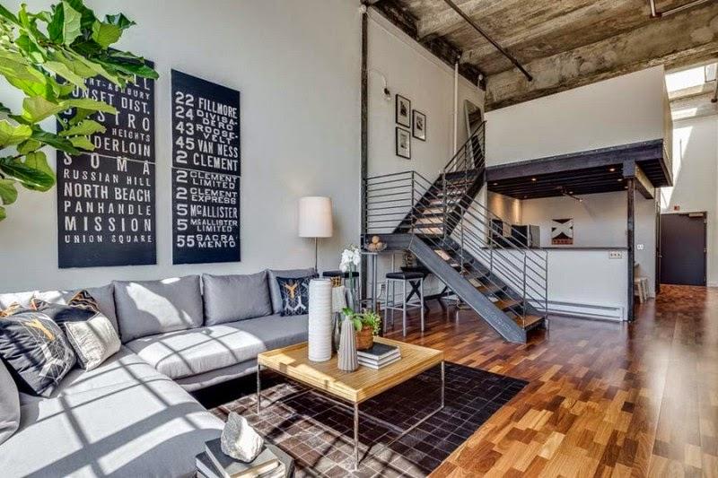 Hogares Frescos: Conversión de Loft en San Francisco, con Techos ...
