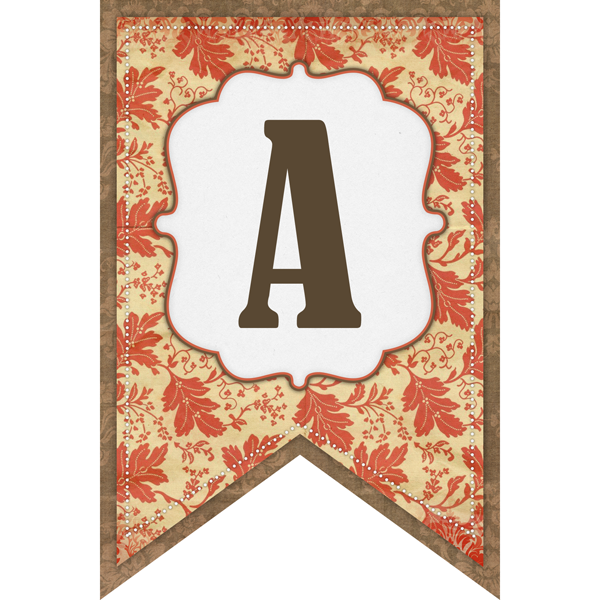 This letter A is festive for fall.