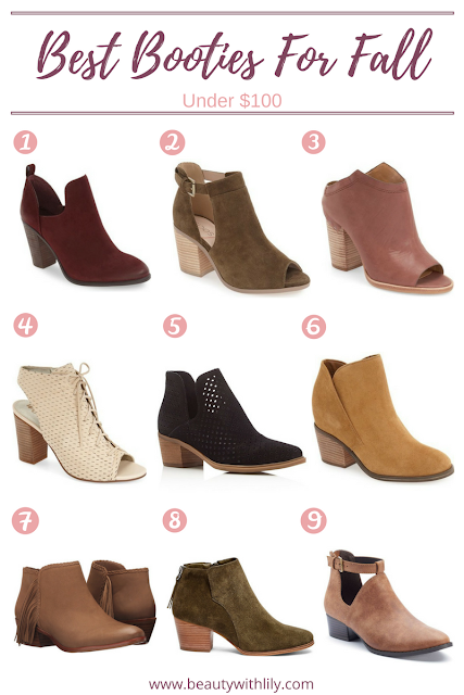 Affordable Fall Booties | Under $100 | beautywithlily.com