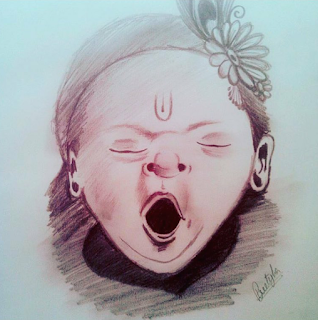 Sketch of Lord Bal Krishna