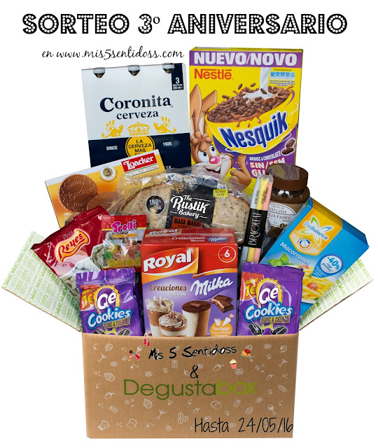 ¡Sorteo 3º Aniversario con Degustabox!