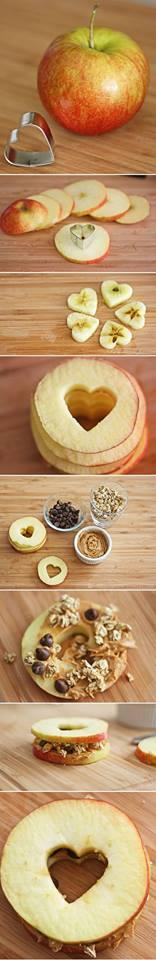 9 Desain Kreasi Makanan Berbentuk Hati Cinta