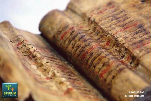 al quran terbuat dari kulit kayu spirit muslim spirum