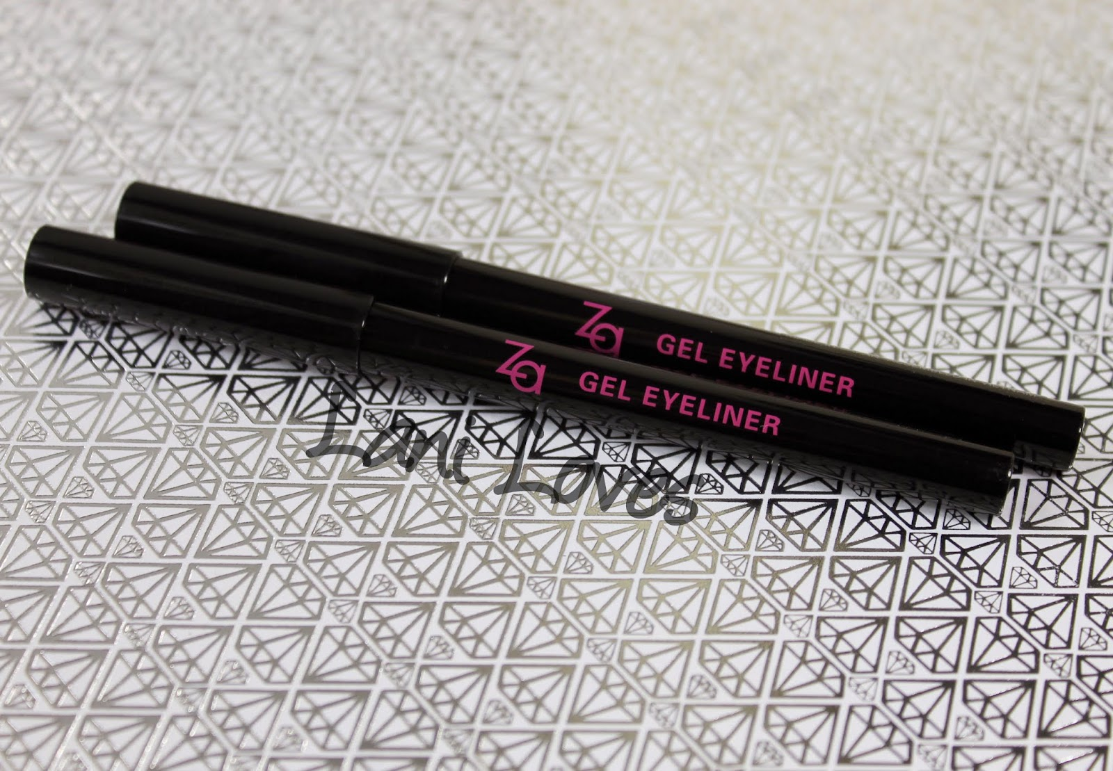 ZA Gel Eyeliner - BR669 Deep Brown and BK999 Real Black Swatches & Review