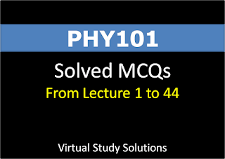 PHY101 Solved MCQs from Lec 1 to 44 for Final Term