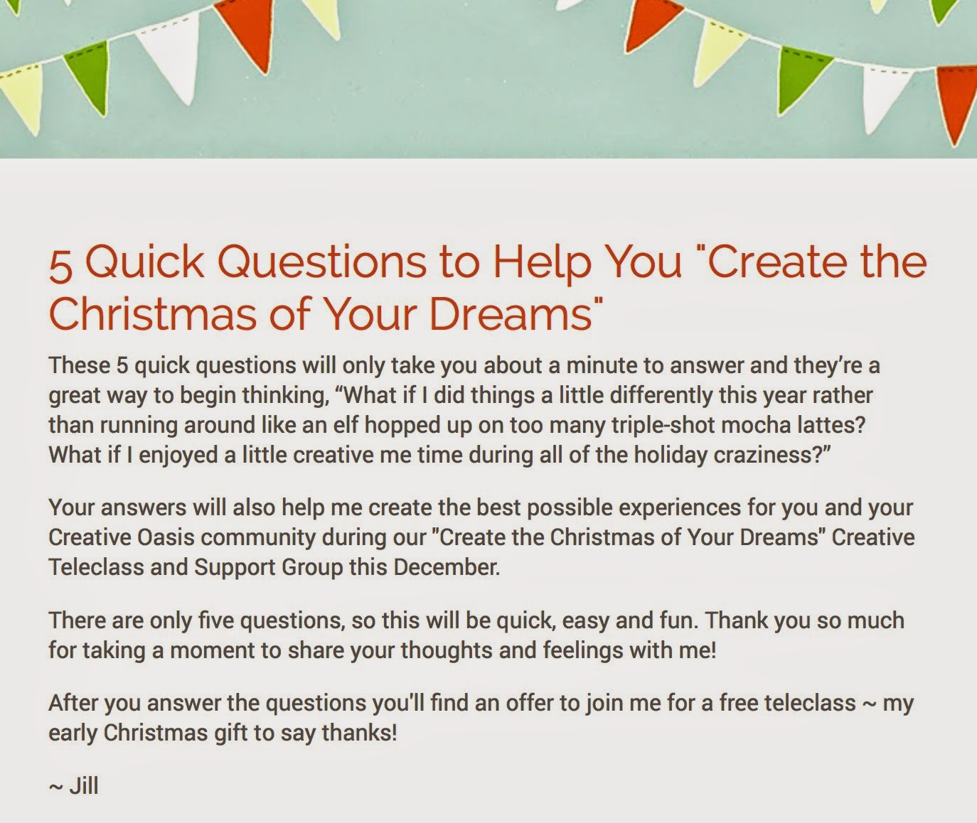 5 Quick Questions To Help You Create The Christmas Of