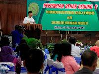 Wali Kota Apresiasi Peresmian Rehab Gedung PN Medan Kelas IA Khusus