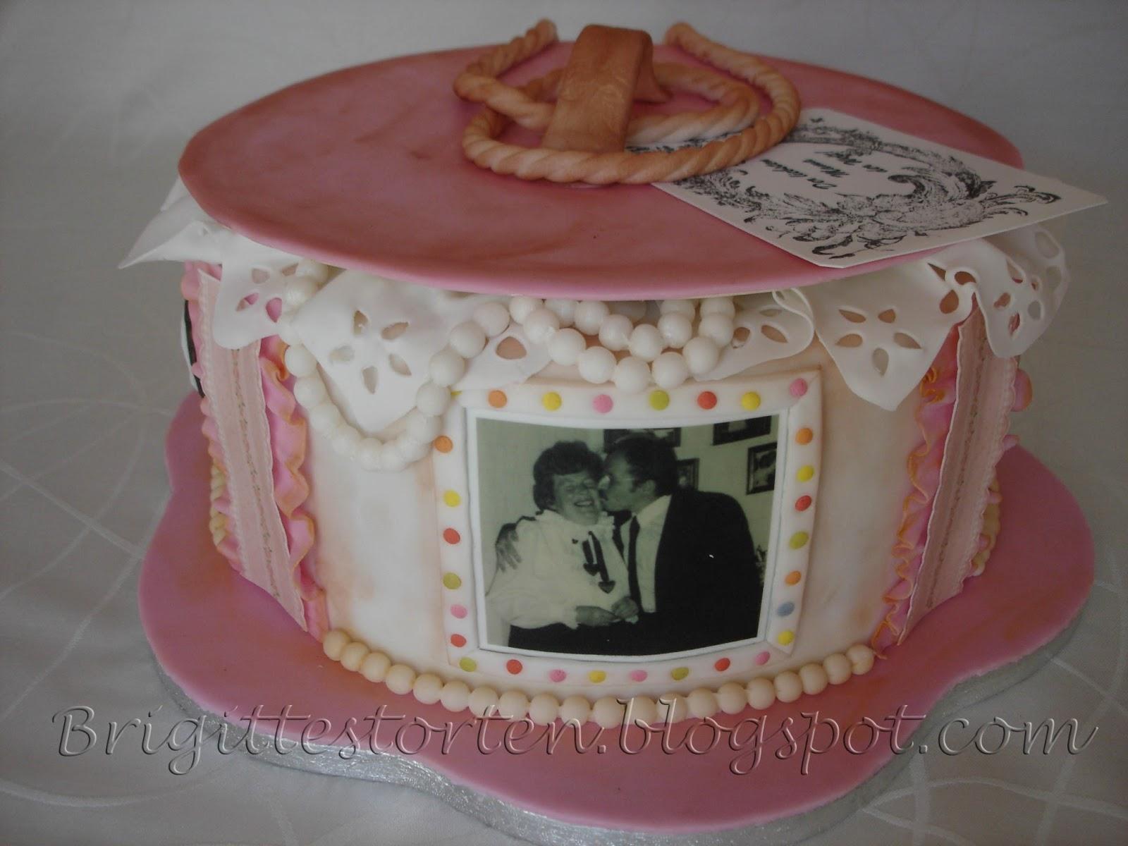 Vintage Cake Zum 75 Geburtstag Brigittes Tortendesign