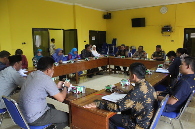 KPU Batanghari Gelar Rakor Petugas Pengamanan Ketertiban TPS Pemilu 2019