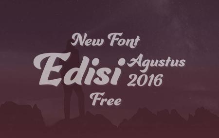Download 10 Font Terbaru Gratis Edisi Agustus 2016