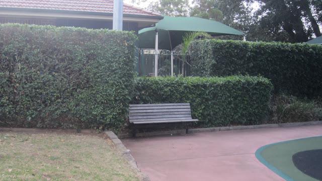 Friend park bench