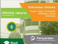 Lowongan Dosen Tetap UNUSIA Jakarta – September 2016