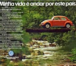 Propaganda do Fusca em 1980. Apresentação de sua potência e robustez.