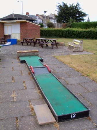 Hole 12 of the South Parade Crazy Golf course in Skegness, Lincolnshire