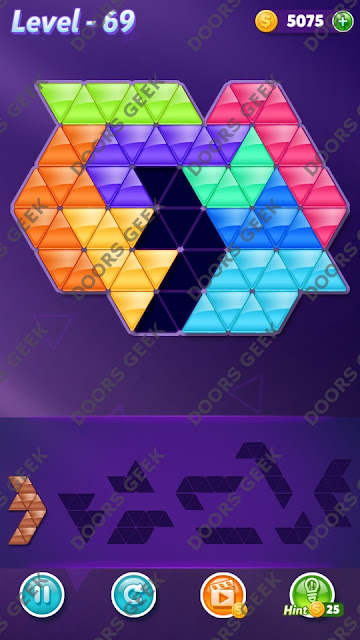 Block! Triangle Puzzle Proficient Level 69 Solution, Cheats, Walkthrough for Android, iPhone, iPad and iPod