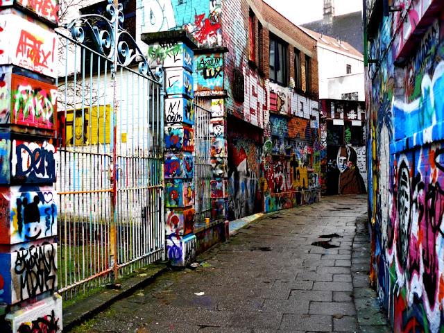 Calle de los Grafitis en Gante