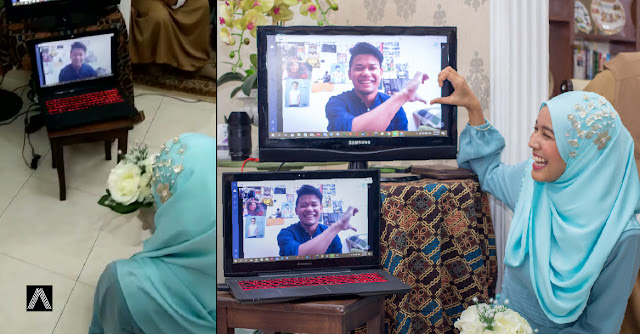"""""""Hidup ikut peredaran zaman"""" - Ber'webcam' dengan tunang dari jarak jauh. Sweetnya..."""
