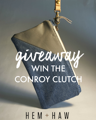 Hem + Haw Conroy Clutch ethical giveaway, made in USA