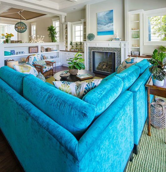 Bright Blue Sofa