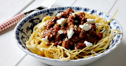 Slow Cooked Minced Lamb with Feta