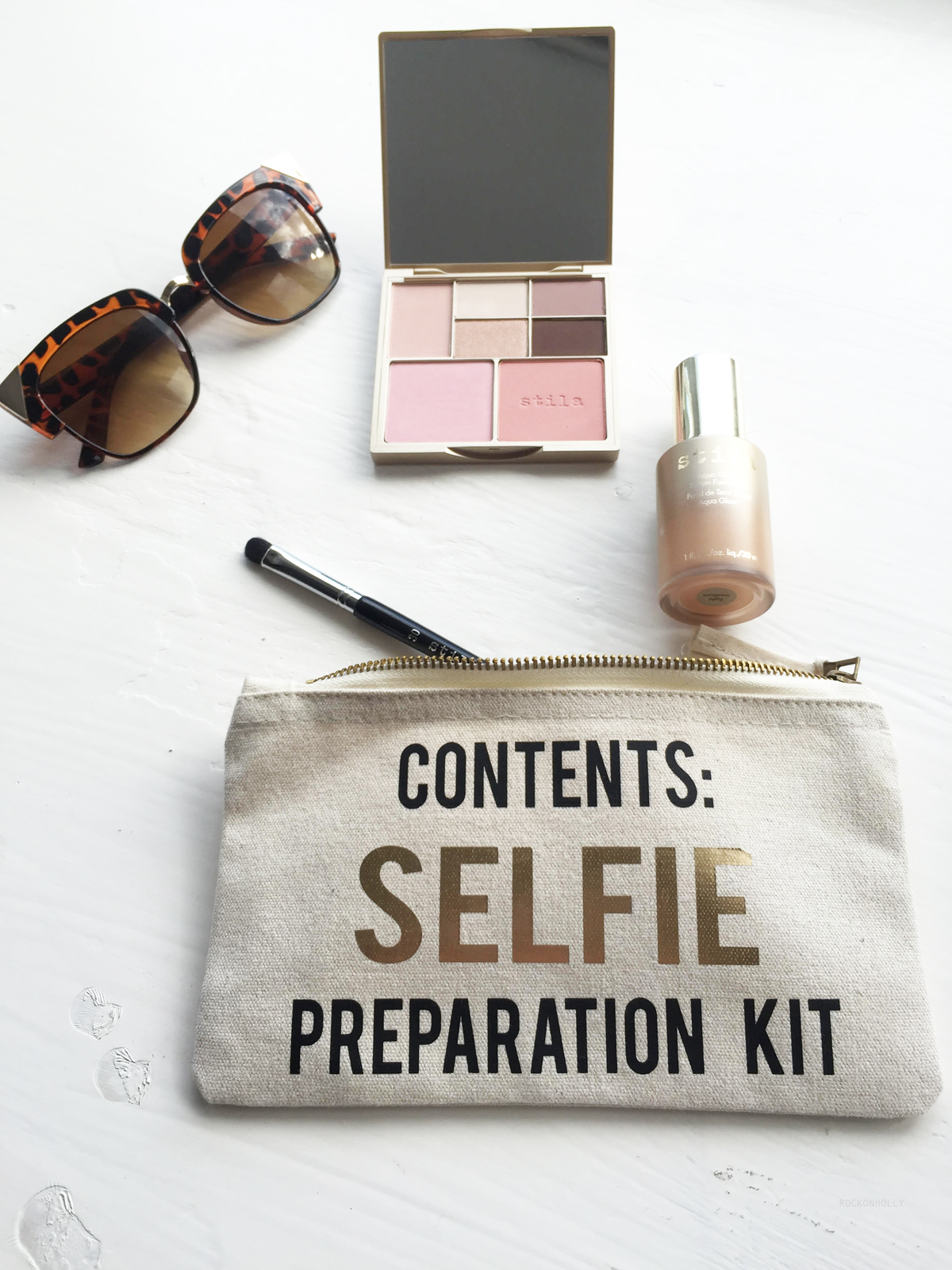 Cream Selfie Preparation Kit Make Up bag from Rock On Ruby