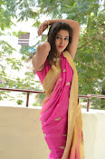 pavani new photos in saree-thumbnail-15