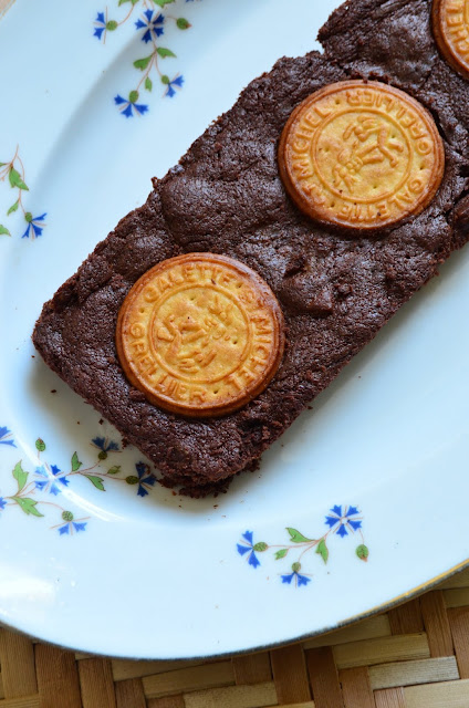 Brownie aux galettes Saint-Michel