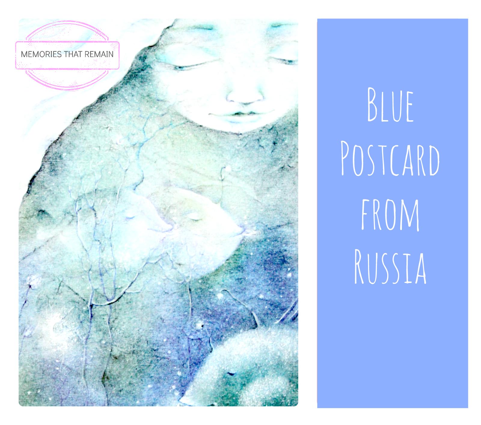 Russia blue postcard