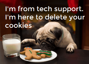 Dog from tech support